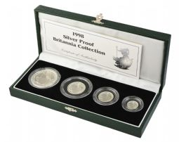 1998 Silver Proof Britannia 4 Coin Set for sale